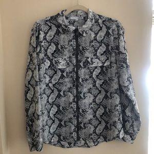 Snake Print Zippered Blouse/Jacket